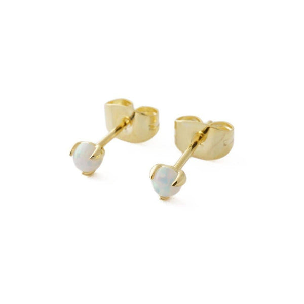Honeycat Jewelry - Opal Orb Solitaire Studs