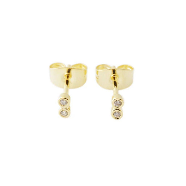 Honeycat Jewelry - Double Crystal Stud Earrings