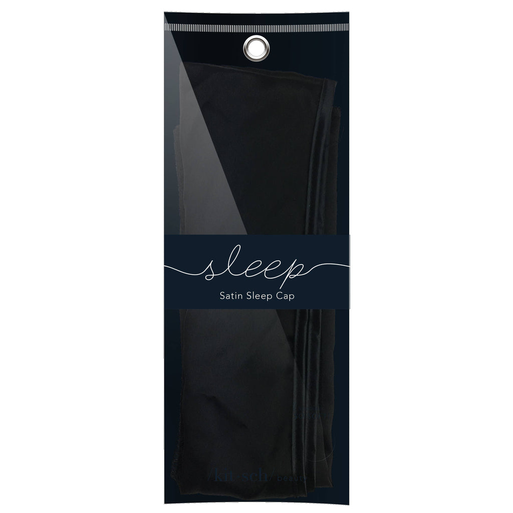 KITSCH - Satin Sleep Cap - Black