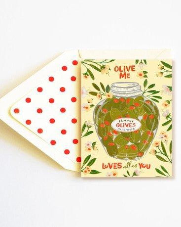 The First Snow - Olive Me Loves All Of You Card