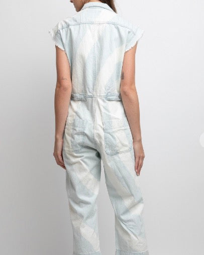 Bleached Denim Jumpsuit
