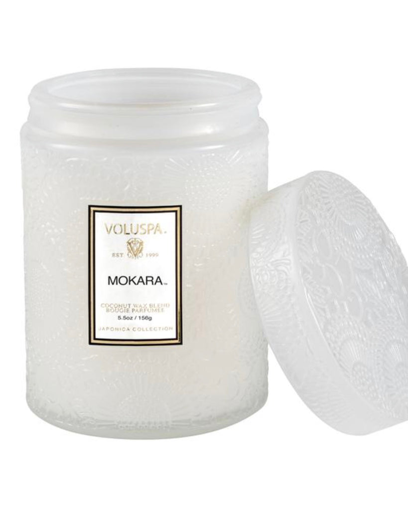 CURBSIDE / IN STORE PICK UP ONLY! Voluspa 5.5oz Embossed Mini Jar