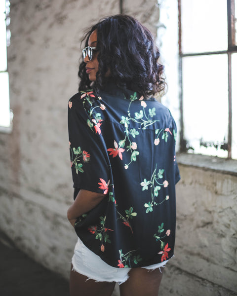 Vintage Floral Button Up
