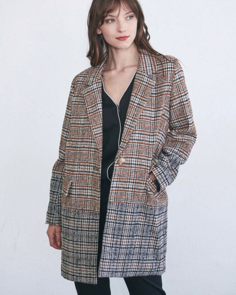 Piper 2 Tone Plaid Jacket