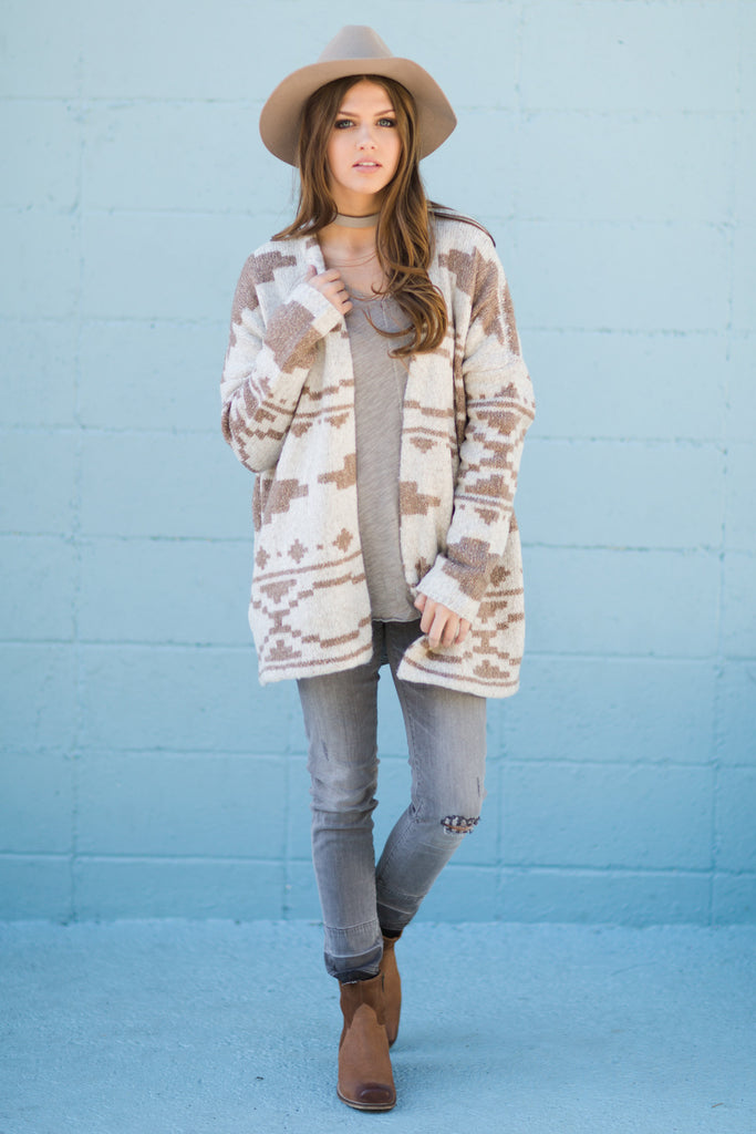 Marble Mix Sweater Cardigan