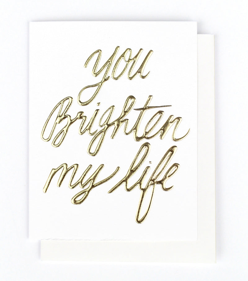 Thimblepress - You Brighten My Life Single Card