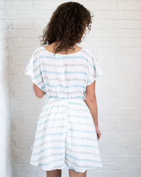 Sky Blue Stripe Romper