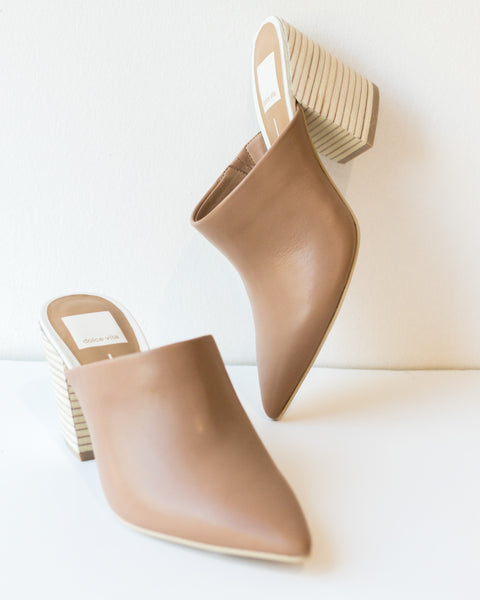 Angela Leather Mule