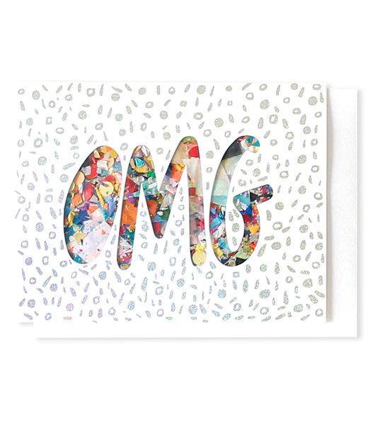 Thimblepress - Confetti Card OMG Greeting Card