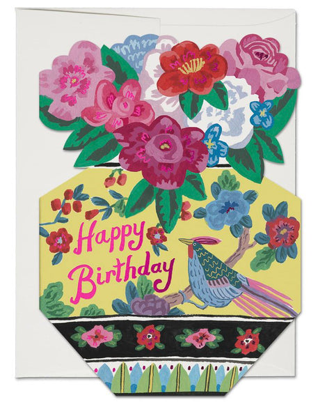 Red Cap Cards - Ornate Flower Vase