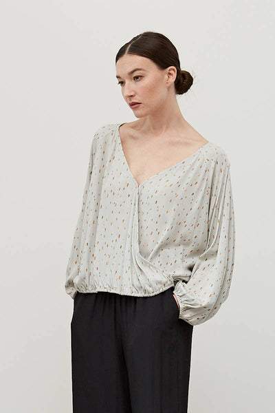 Speckled Dolman Blouse