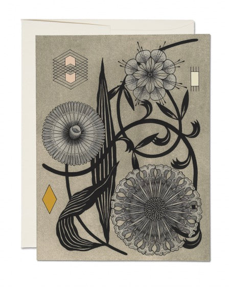 Red Cap Cards - Floral Geometry