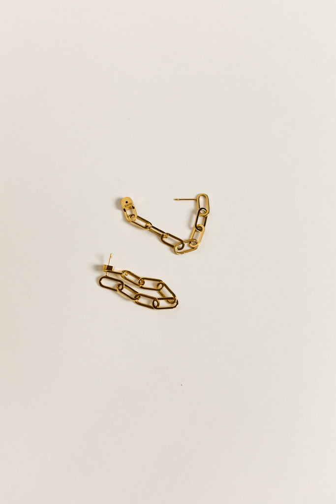 18K Wrap Around Link Earring