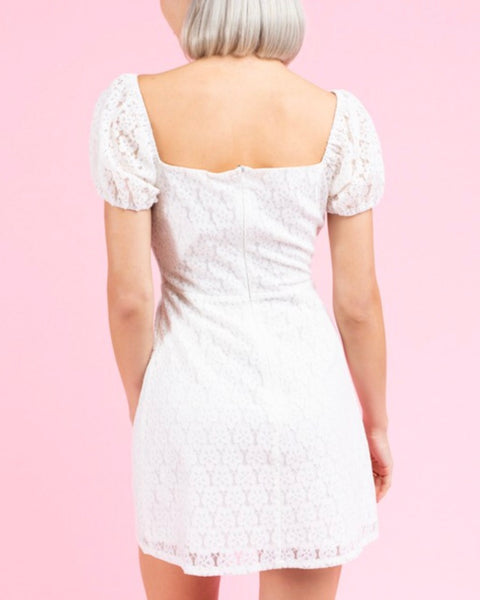 Puff Sleeve Lace Dress