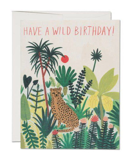 Red Cap Cards - Cheetah Birthday