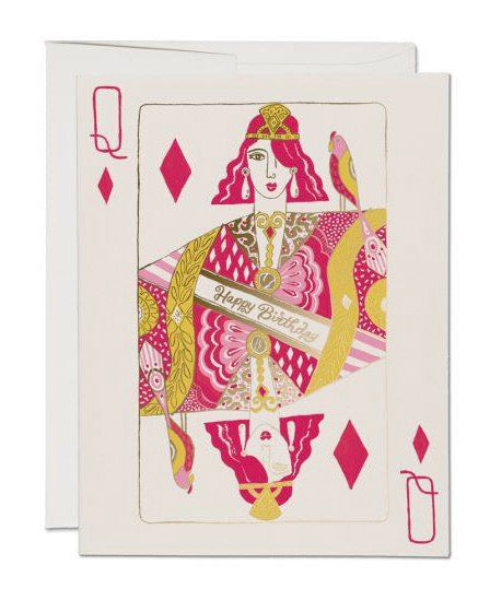 Red Cap Cards - Queen of Diamonds