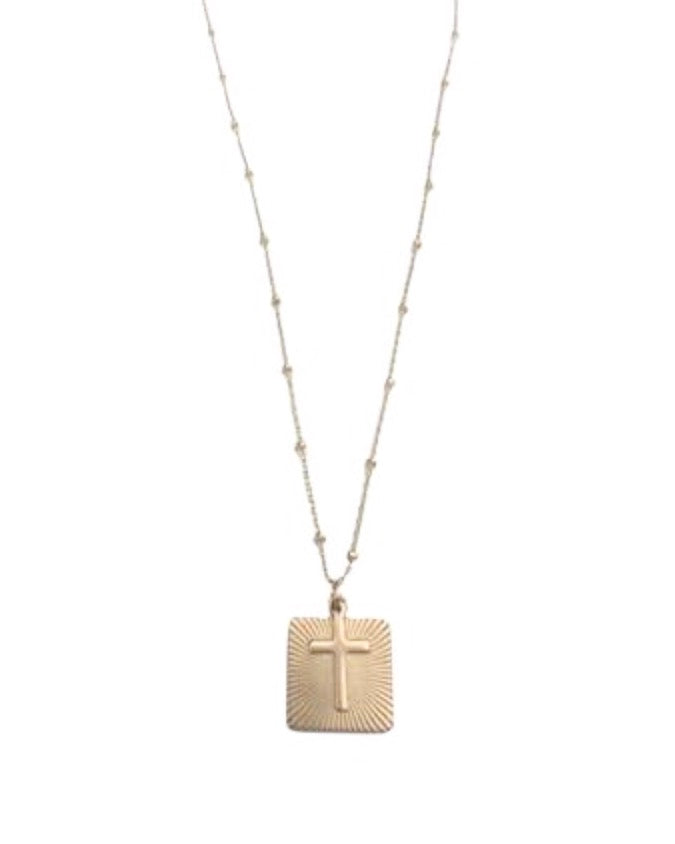 In Awe Cross Necklace