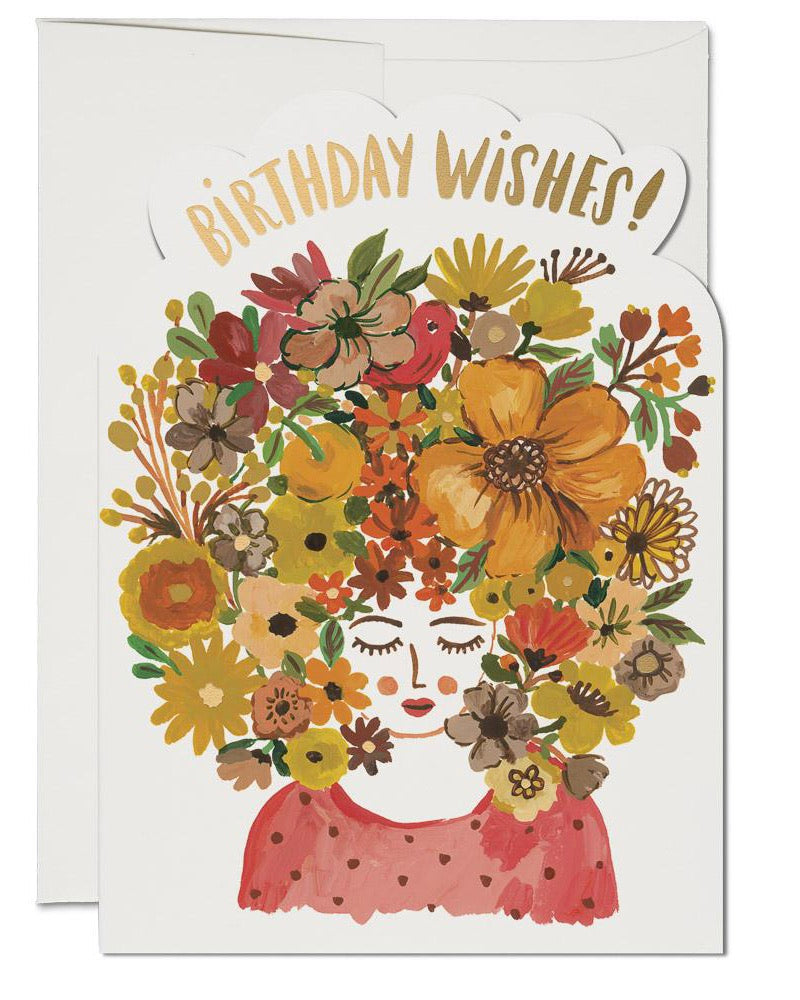 Red Cap Cards - Floral Tresses