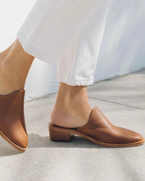 Soludos Leather Venetian Mule