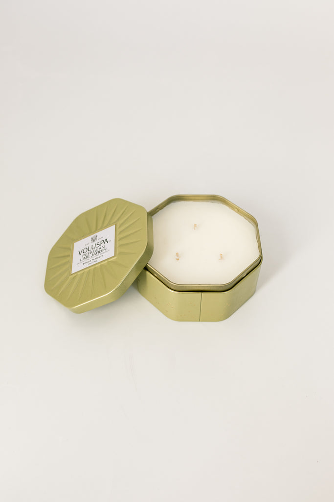 Vermeil Octagon Tin Candle (Curbside or Store Pick up only)