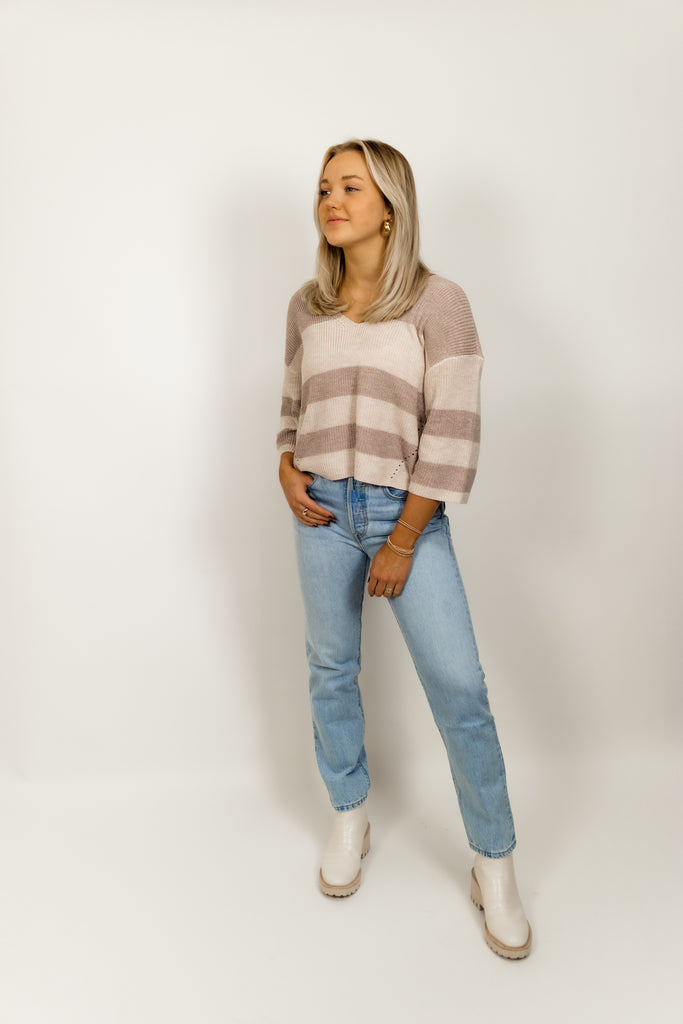 Nino Stripe Knit Sweater