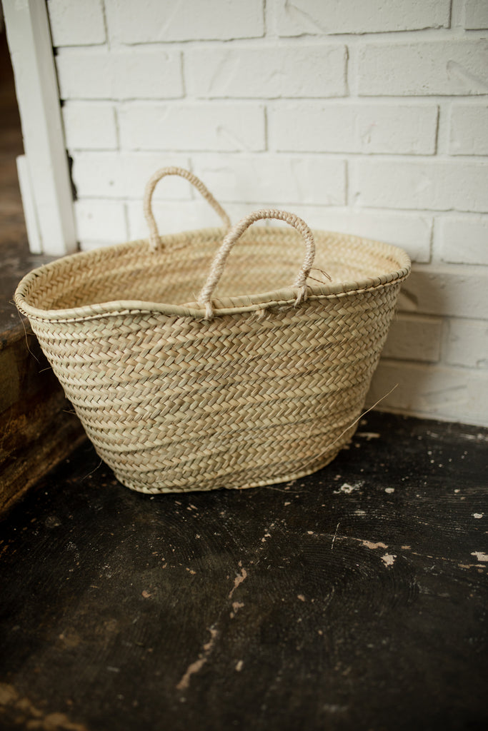 French Market Basket - Straw bag- Tote bag