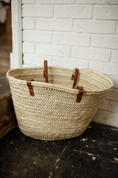 Large Beach Basket-Market tote - beach tote