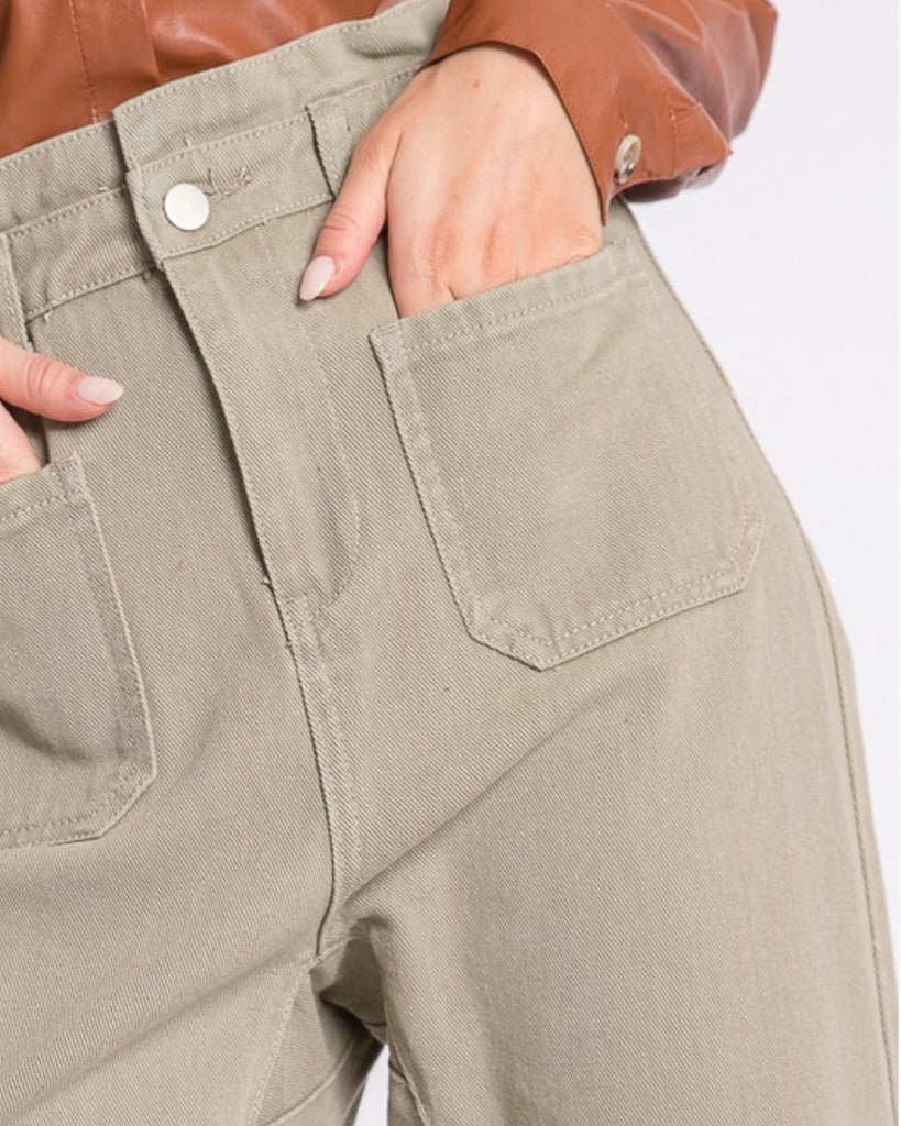 Paperbag Denim Pant