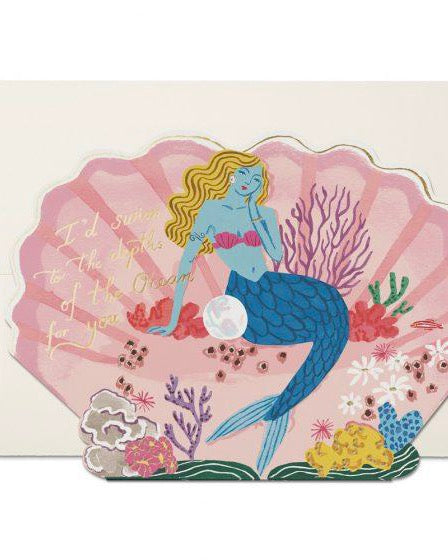 Red Cap Cards - Blue Mermaid