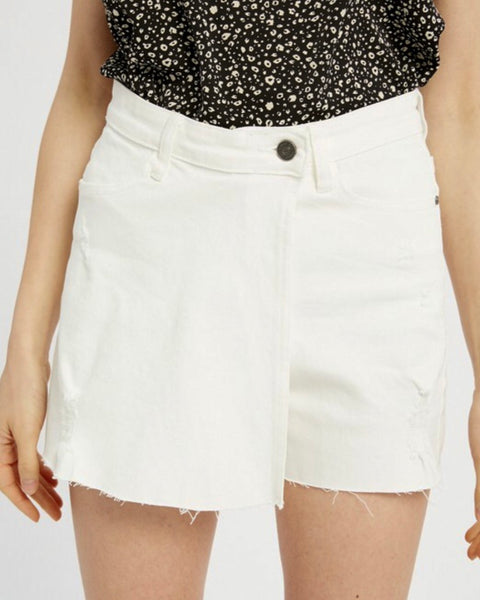 Overlap Skirt Short
