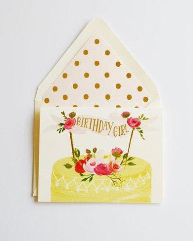 The First Snow - Birthday Girl Cake Card
