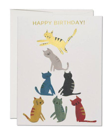 Red Cap Cards - Gold Kitty