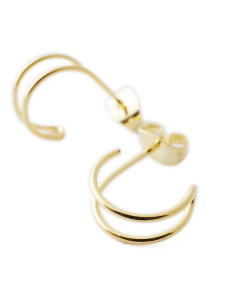 Double Hoop Hug Earrings
