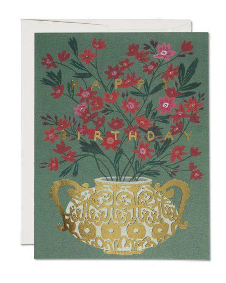 Red Cap Cards - Golden Vase