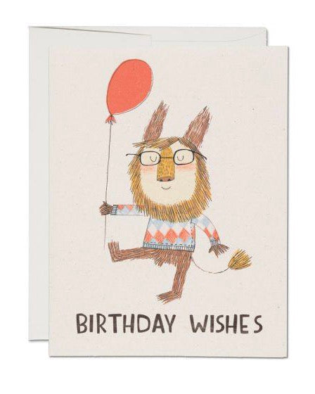 Red Cap Cards - Birthday Lion