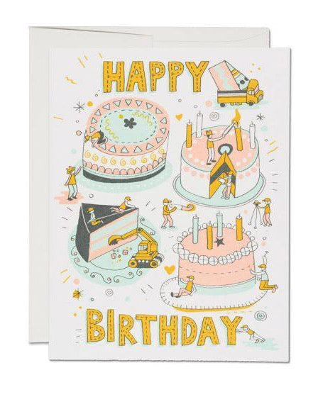 Red Cap Cards - Building Birthday