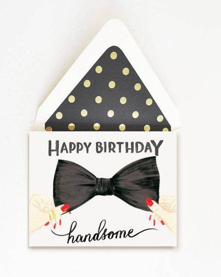 The First Snow - Happy Birthday Handsome Bow Tie
