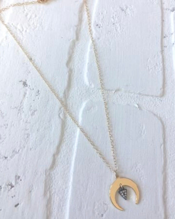 Crescent & Triangle Necklace