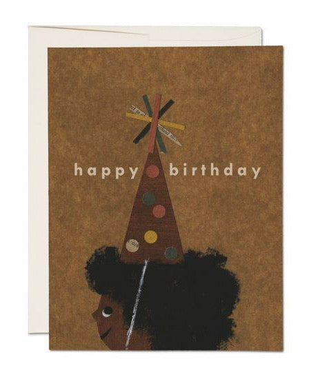 Red Cap Cards - Afro Birthday