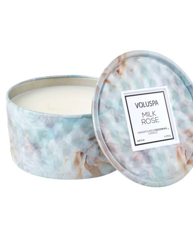 Floral 6oz Tin Candle