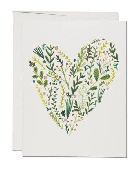 Red Cap Cards - Floral Heart