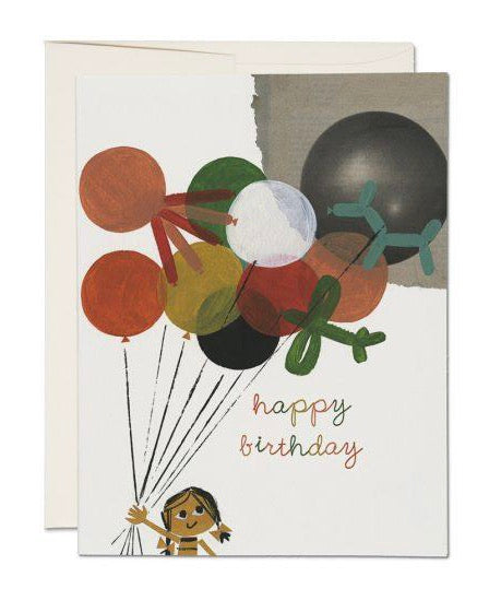 Red Cap Cards - Balloon Bouquet