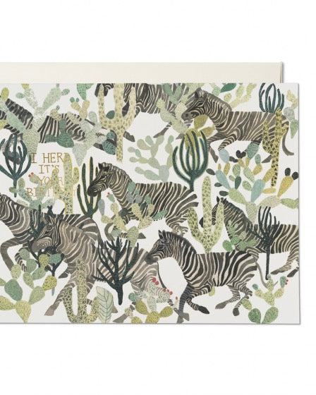 Red Cap Cards - Zebra Herd