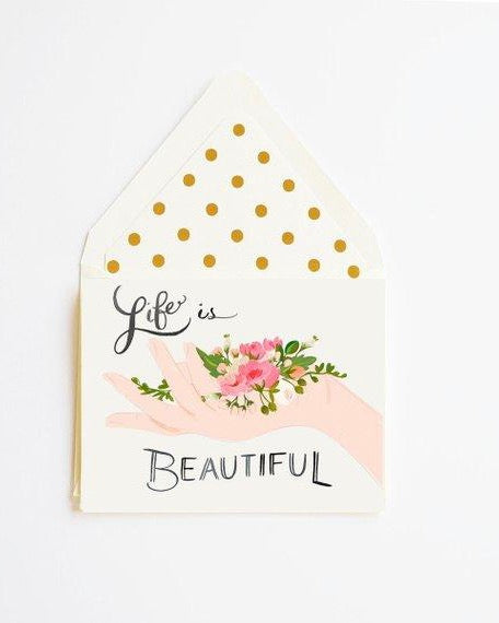 The First Snow - Life is Beautiful Card