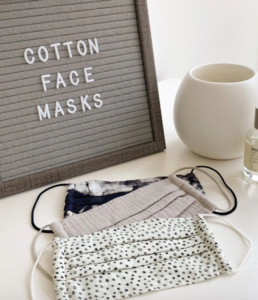 KITSCH - Cotton Mask 3pc Set - Neutral
