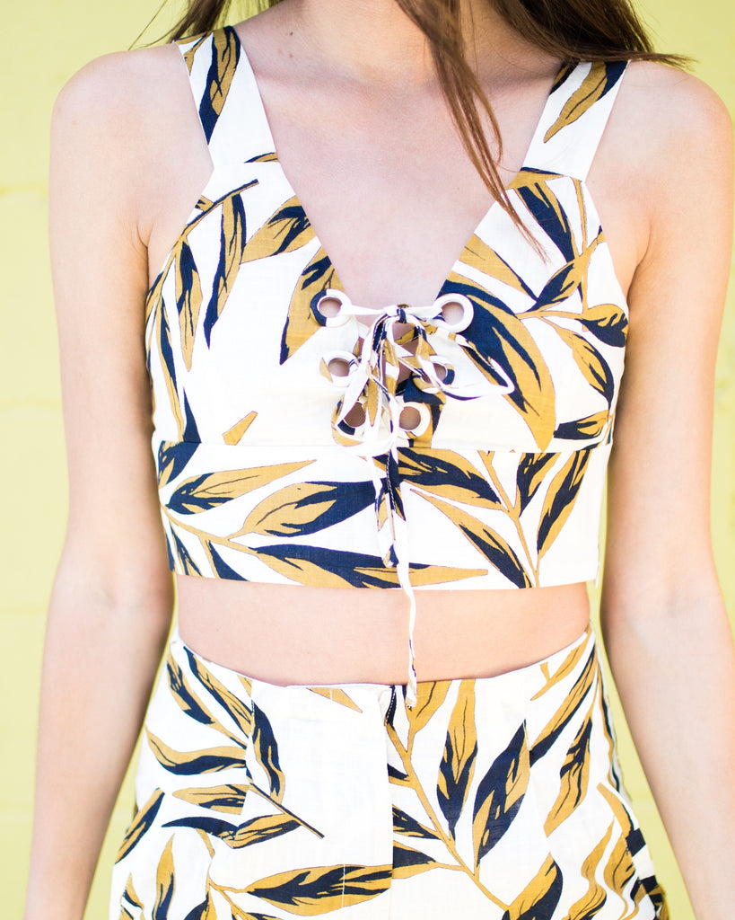 Palm Print 2 Piece Set