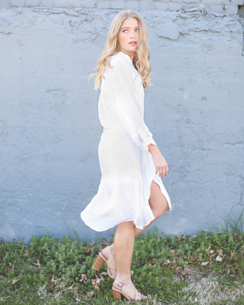 Andria Tied Shirt Dress