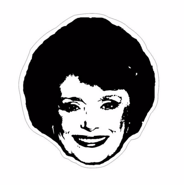 Golden Girls Rue McClanahan Sticker