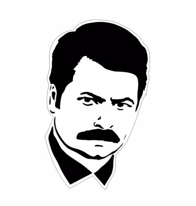 LetterCraft - Ron Swanson Sticker
