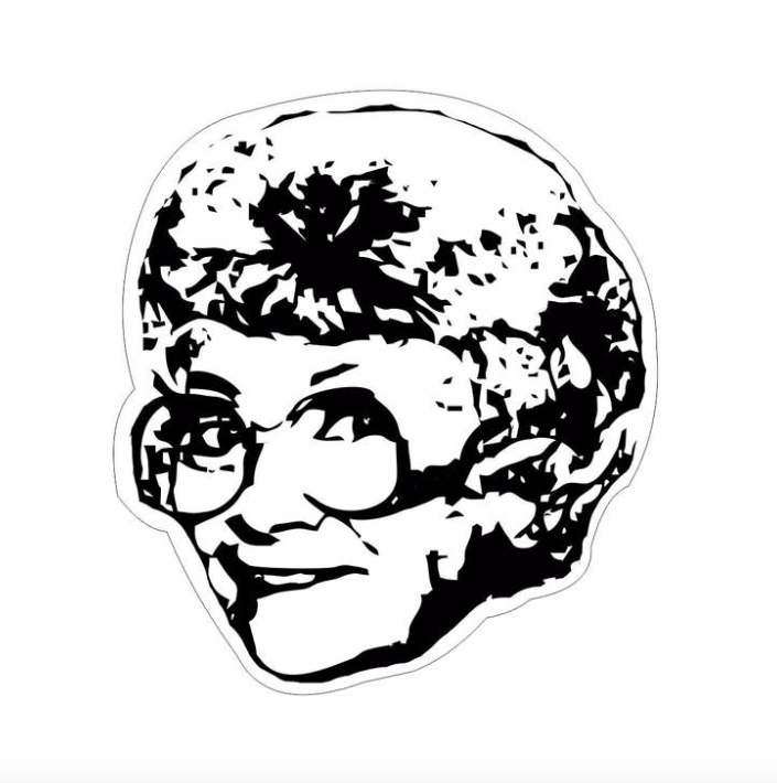 Golden Girls Estelle Getty Sticker